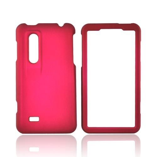 LG Thrill 4G Rubberized Hard Case - Magenta