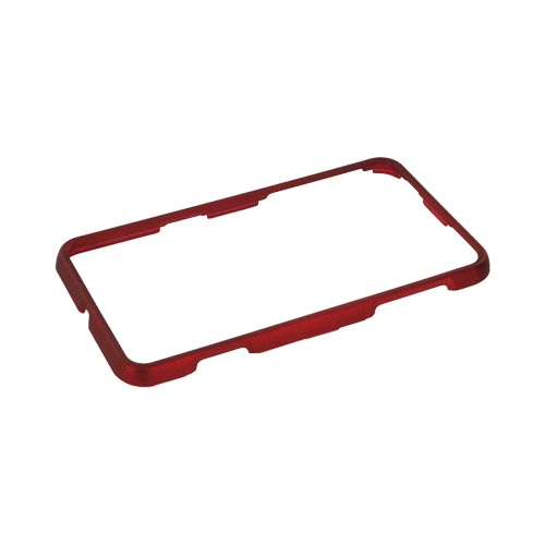 LG Thrill 4G Rubberized Hard Case - Red