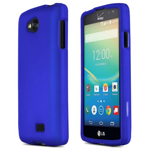 LG Transpyre/Tribute Case [Blue] Featuring Anti-Slip Matte Protective Rubberized Material, Slim and Perfect Fit
