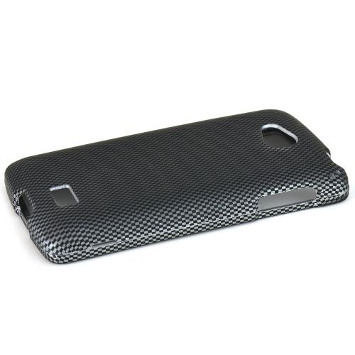 Lg Transpyre Protective Glossy Finish Hard Case - [Perfect Fitting Lg Transpyre (2014) Case] [gray Carbon Fiber Design]