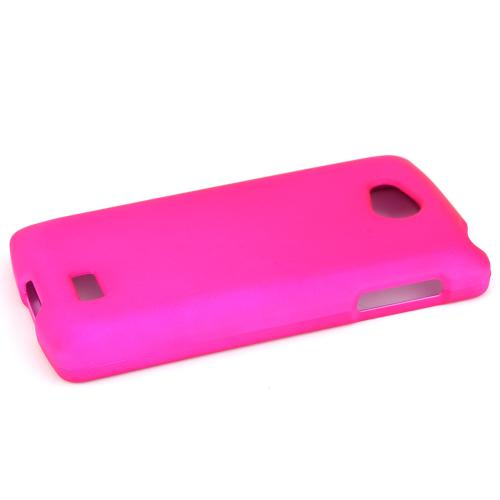 LG Transpyre/Tribute Case [Hot Pink] Featuring Anti-Slip Matte Protective Rubberized Material, Slim and Perfect Fit