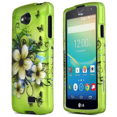 LG Transpyre/Tribute Case [Hawaiian Flowers] Featuring Anti-Slip Matte Protective Rubberized Material, Slim and Perfect Fit