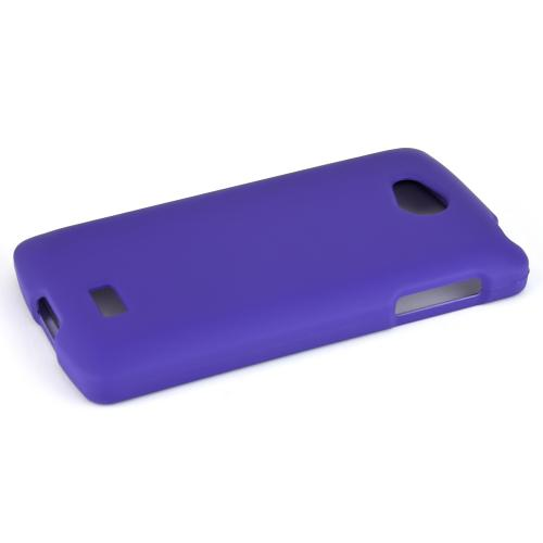 LG Transpyre/Tribute Case [Purple] Featuring Anti-Slip Matte Protective Rubberized Material, Slim and Perfect Fit