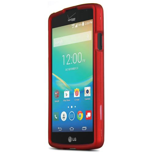 LG Transpyre/Tribute Case [Red] Featuring Anti-Slip Matte Protective Rubberized Material, Slim and Perfect Fit