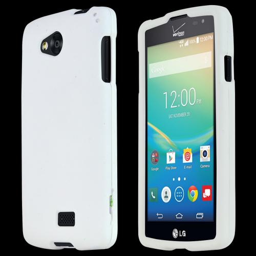 LG Transpyre/Tribute Case [White] Featuring Anti-Slip Matte Protective Rubberized Material, Slim and Perfect Fit