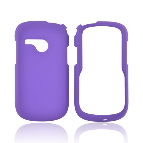 LG Saber UN200 Rubberized Hard Case - Purple