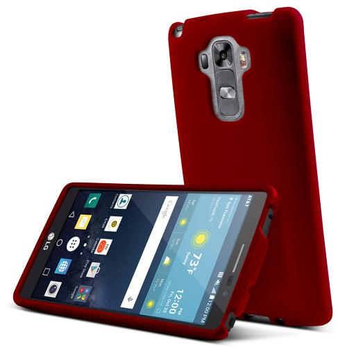 LG G Vista 2 Case, [Red] Slim & Protective Rubberized Matte Finish Snap-on Hard Polycarbonate Plastic Case Cover
