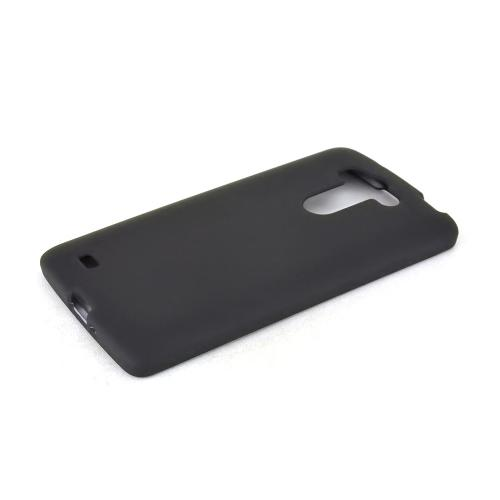 Black LG G Vista Matte Rubberized Hard Case Cover; Perfect fit as Best Coolest Design Plastic cases