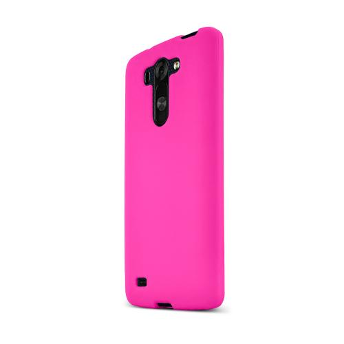 Hot Pink LG G Vista Matte Rubberized Hard Case Cover; Perfect fit as Best Coolest Design Plastic cases