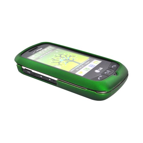 LG Cosmos Touch VN270 Rubberized Hard Case - Green