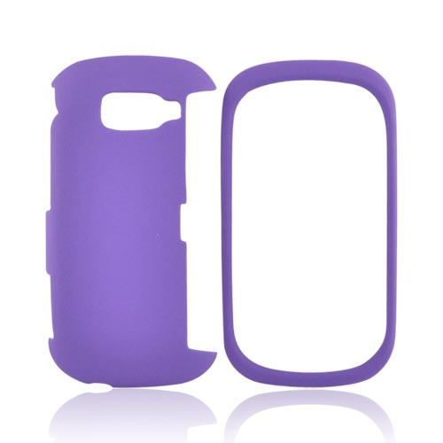 LG Octane VN530 Rubberized Hard Case - Purple