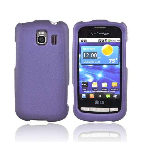 LG Vortex Rubberized Hard Case - Purple