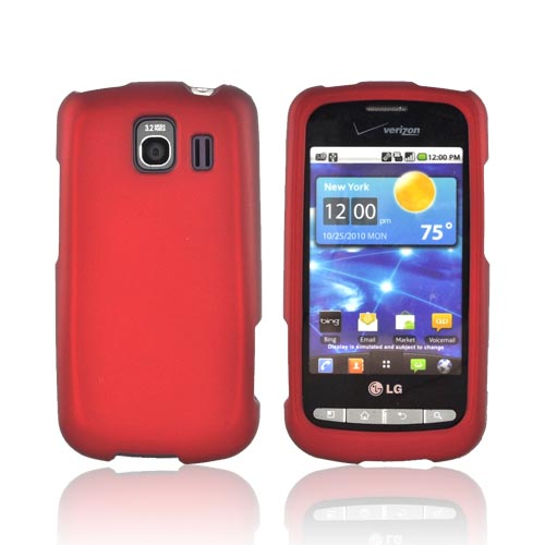 LG Vortex Rubberized Hard Case - Red