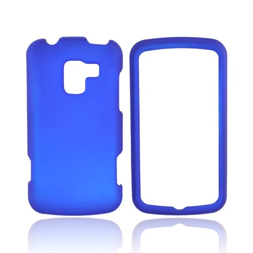 LG Enlighten VS700 Rubberized Hard Case - Blue