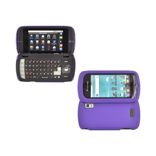 LG Genesis VS760 Rubberized Hard Case - Purple