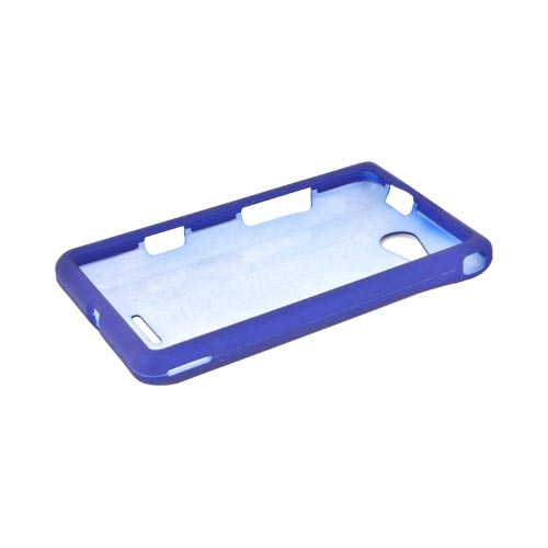 LG Lucid VS840 Rubberized Hard Case - Blue