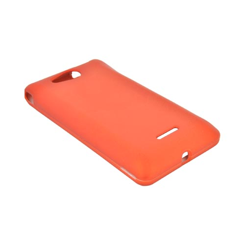 LG Lucid VS840 Rubberized Hard Case - Orange