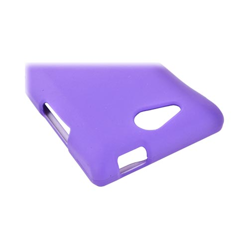 LG Lucid VS840 Rubberized Hard Case - Purple
