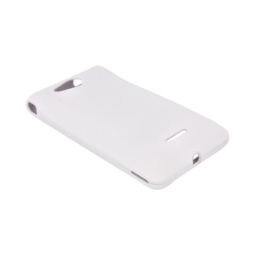 LG Lucid VS840 Rubberized Hard Case - White