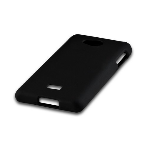 Black Rubberized Hard Case for LG Spirit 4G (MetroPCS)