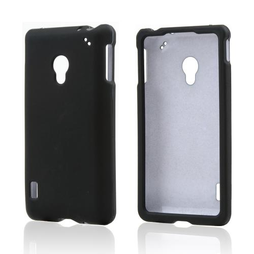Black Rubberized Hard Case for LG Lucid 2