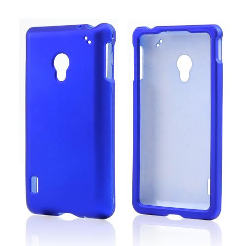 Blue Rubberized Hard Case for LG Lucid 2