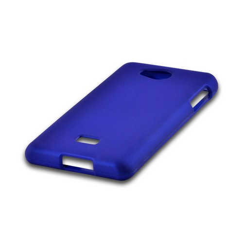 Blue Rubberized Hard Case for LG Spirit 4G (MetroPCS)