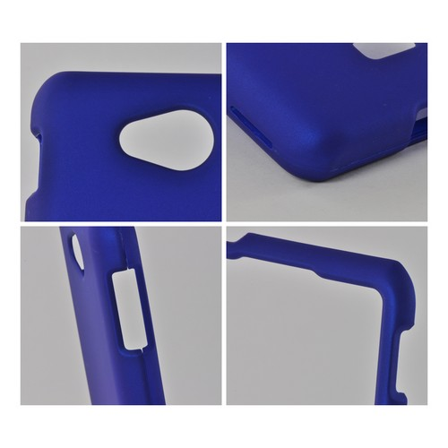 Blue Rubberized Hard Case for LG Spirit 4G