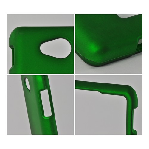 Green Rubberized Hard Case for LG Spirit 4G (MetroPCS)