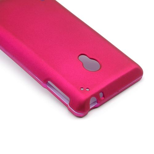 Hot Pink Rubberized Hard Case for LG Lucid 2