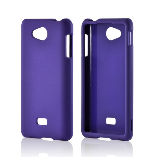 Purple Rubberized Hard Case for LG Spirit 4G (MetroPCS)