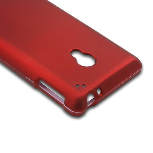 Red Rubberized Hard Case for LG Lucid 2