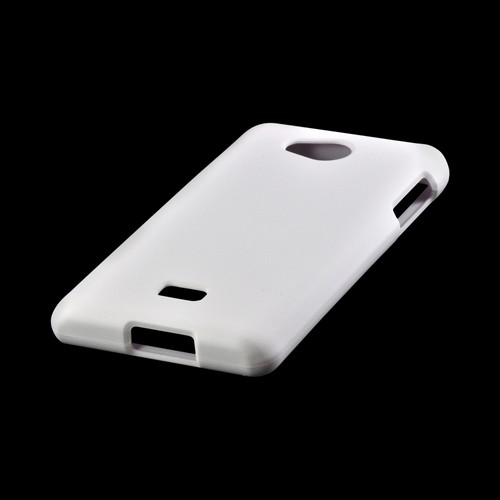 White Rubberized Hard Case for LG Spirit 4G (MetroPCS)