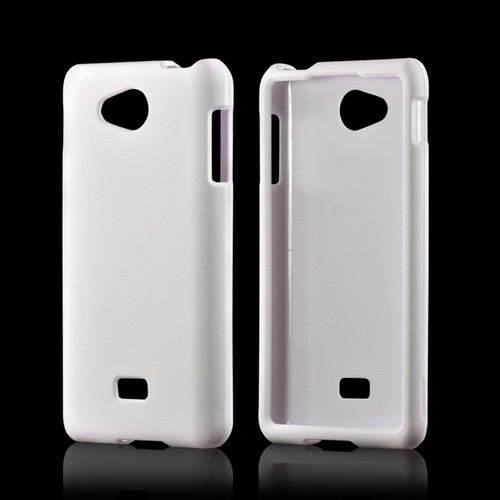 White Rubberized Hard Case for LG Spirit 4G