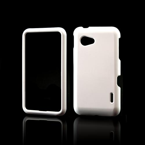 White Rubberized Hard Case for LG Enact