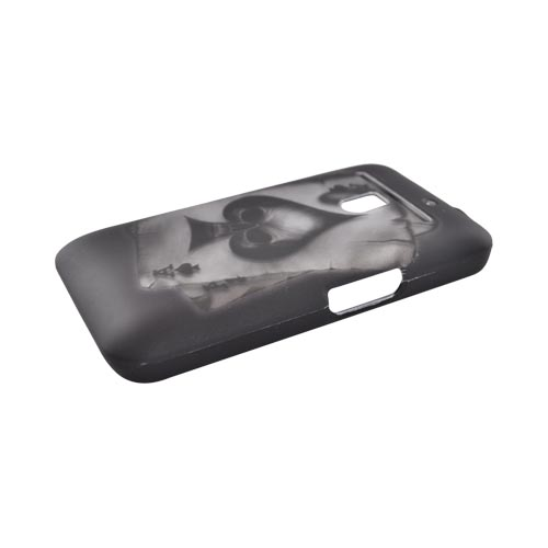 LG Revolution, LG Esteem Rubberized Hard Case - Ace Skull on Gray