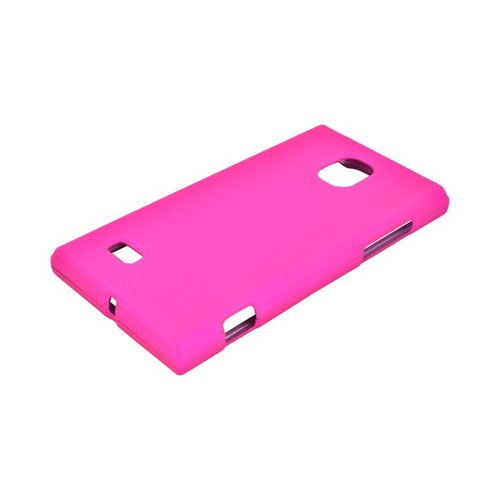 LG Optimus VS930 (Optimus LTE II) Rubberized Hard Case - Hot Pink