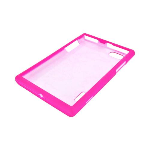 LG Optimus Vu VS950 Rubberized Hard Case - Hot Pink