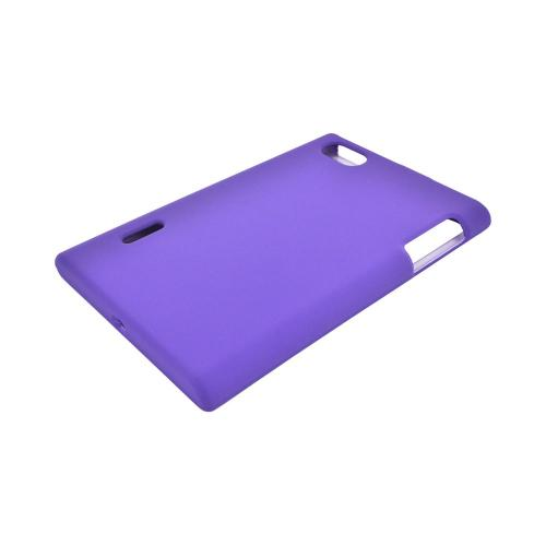 LG Optimus Vu VS950 Rubberized Hard Case - Purple