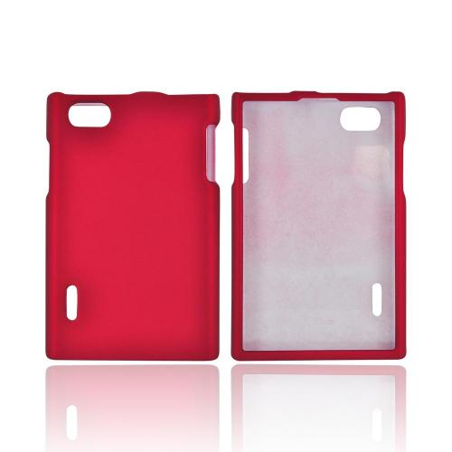 LG Optimus Vu VS950 Rubberized Hard Case - Red
