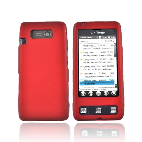 LG Fathom Rubberized Hard Case - Red