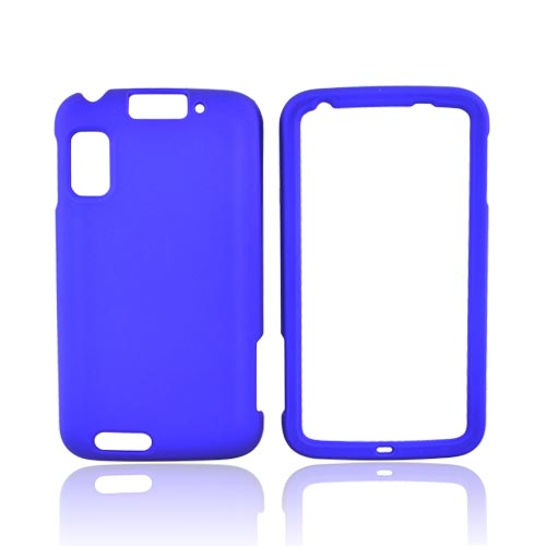 Motorola Atrix 4G Rubberized Hard Case - Blue
