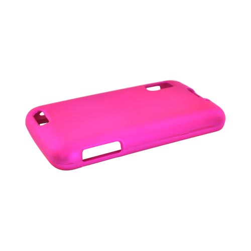 Motorola Atrix 4G Rubberized Hard Case - Hot Pink