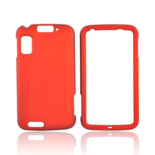 Motorola Atrix 4G Rubberized Hard Case - Orange
