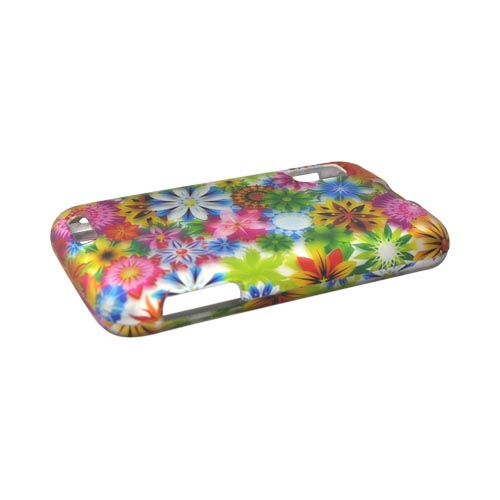 Motorola Atrix 4G Rubberized Hard Case - Colorful Spring Garden