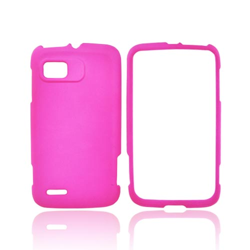 Motorola Atrix 2 Rubberized Hard Case - Hot Pink