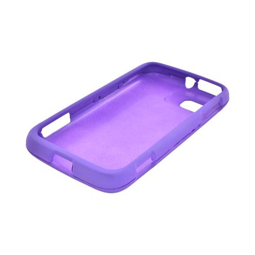 Motorola Atrix 2 Rubberized Hard Case - Purple