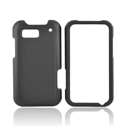 Motorola Defy Rubberized Hard Case - Black