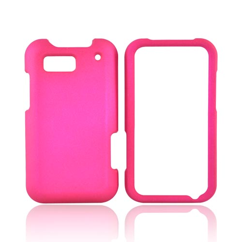 Motorola Defy MB525 Rubberized Hard Case - Hot Pink