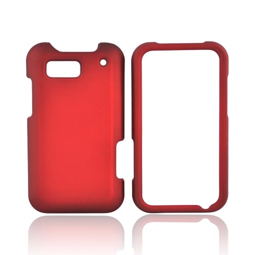 Motorola Defy MB525 Rubberized Hard Case - Red